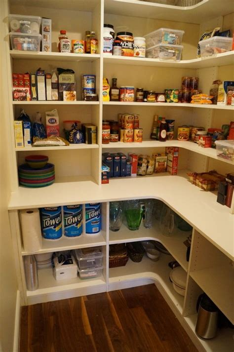 corner kitchen pantry ideas pantry idea like the deeper shelves on the bottom i