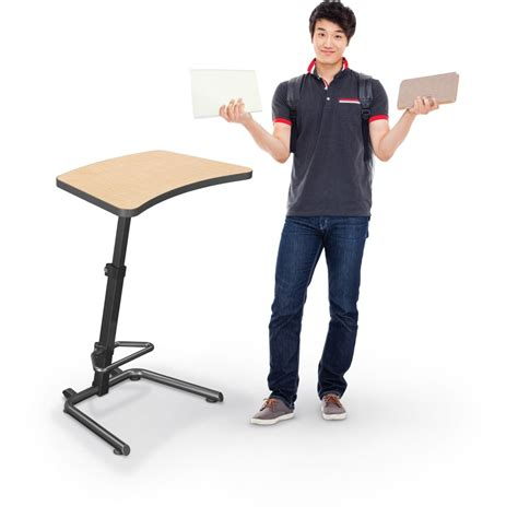 sit and stand desk up rite student height adjustable sit and stand desk