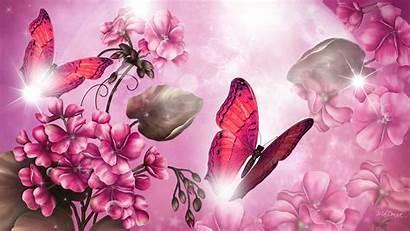 Pink Bright Butterfly Wallpapers Girly Diamond Desktop
