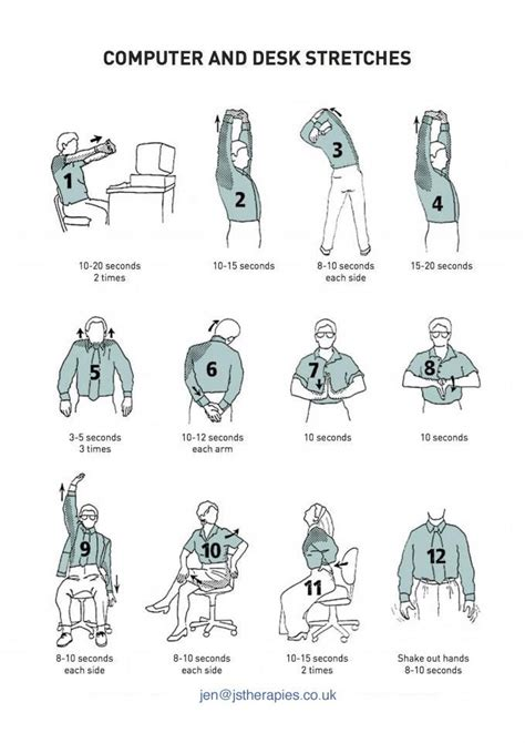 computer  desk stretches fitness  health