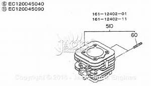 Robin  Subaru Ec12 Parts Diagram For Cylinder Complete  For Ec120d45040 Ec120d45090