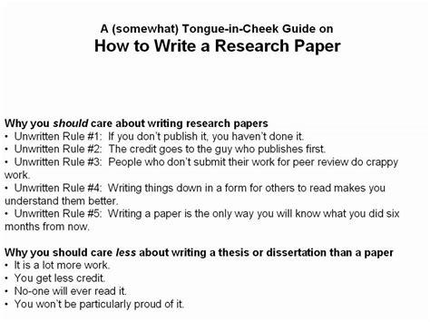 write  scientific research paper part