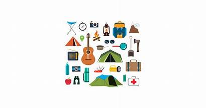 Camping Vector Stuff Graphic Icons Travel Graphics
