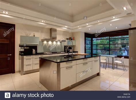 tiled kitchen floors ideas lighting on false ceiling in modern kitchen