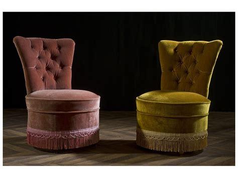 fauteuil crapaud vintage ancien velours capitonn 233 1950