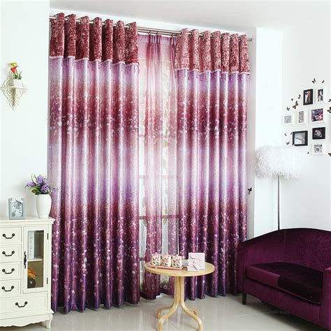 purple patterned curtains purple patterned print polyester insulated beautiful