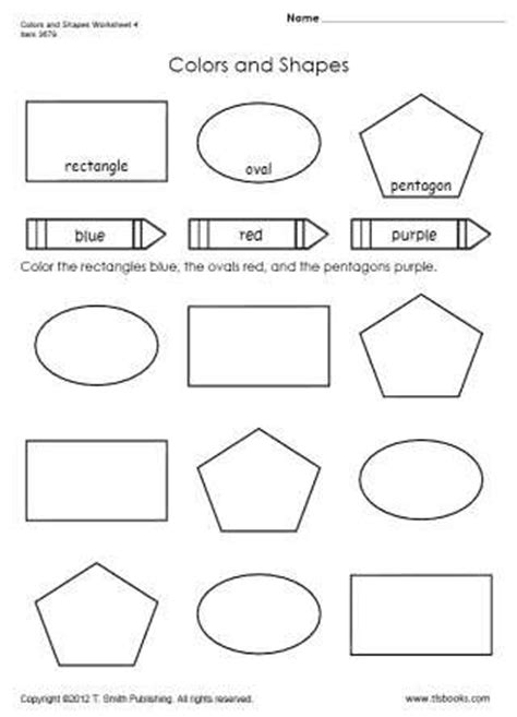Shapes and Colors Worksheets for Preschoolers