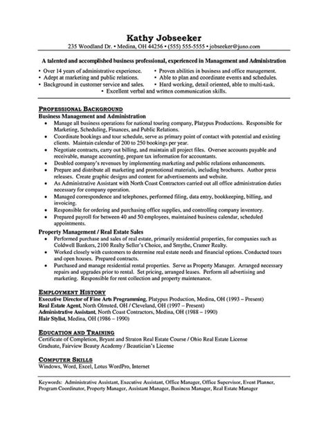 Exle Of Assistant Property Manager Resume by Assistant Property Manager Resume Objective Assistant
