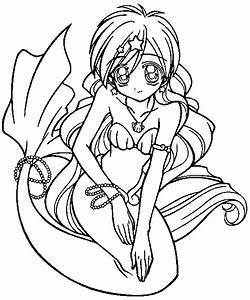 Mermaid Melody Coloring Pages - ColoringPagesABC.com