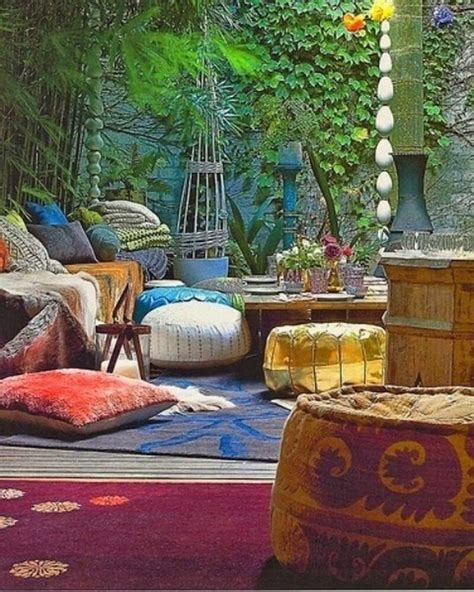 10 Charming Bohemian Patio Design Ideas - https