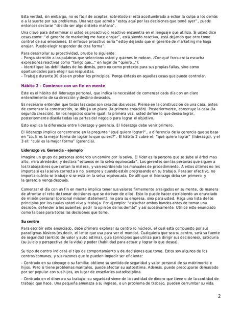 Resume 7 Habits by 01 Resumen 7 Habitos De La Gente Altamente Efectiva