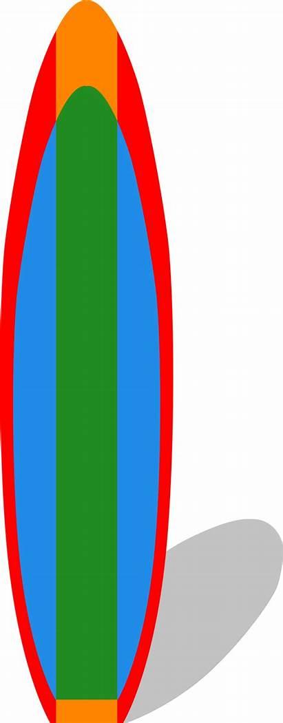 Surfboard Surf Clipart Clip Board Cliparts Vector