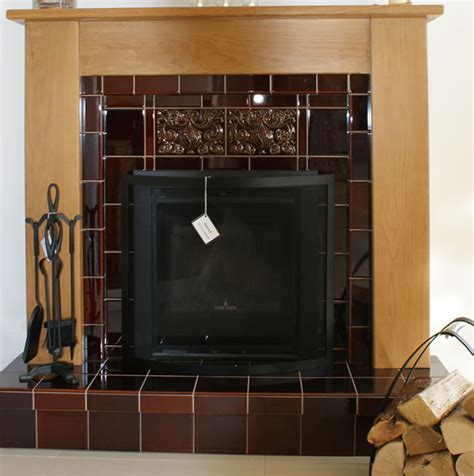 Tile Fireplace Surround Ideas   modern fireplace surrounds