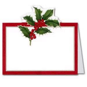 christmas holly die cut place cards paperstyle