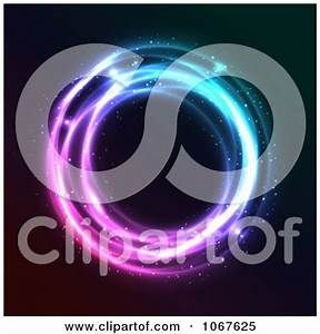 Clipart Blue And Purple Neon Circle Royalty Free Vector