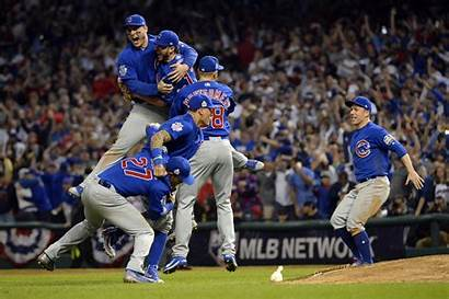 Chicago Cubs Win Progressive Cleveland Indians Celebrate