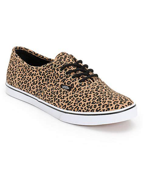 vans authentic lo pro leopard herringbone shoes womens