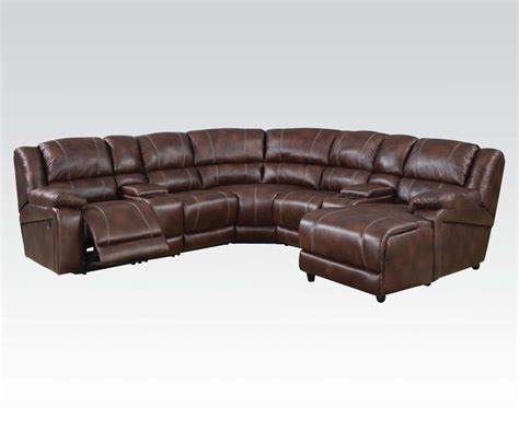 leather reclining sectional with chaise 7 sectional sofa brown faux leather sofa