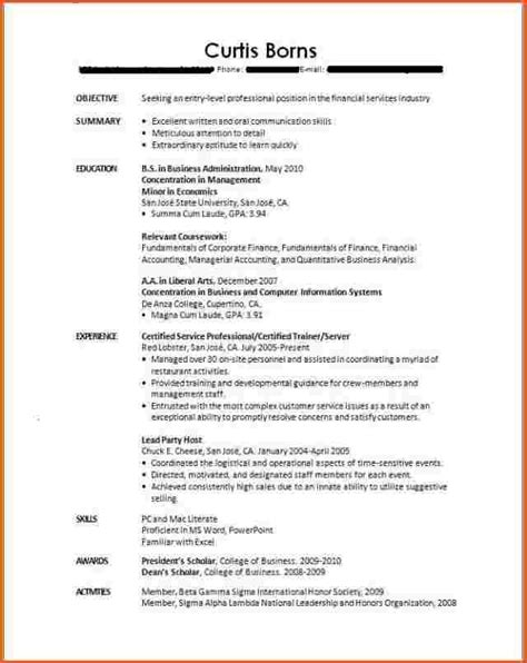 college student resume  experience cover letter job