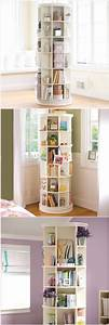 home accessory rotating shelf cool home decor With bookcase for teenage room