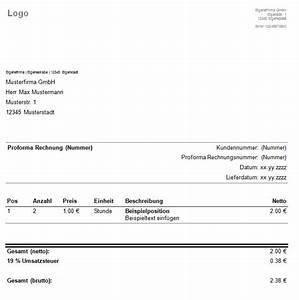 Rechnung Ins Ausland : proforma rechnung rechnungsvorlage ~ Themetempest.com Abrechnung