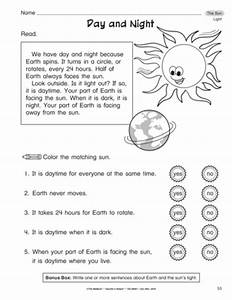 Day And Night Worksheets For Toddlers - opposites ...