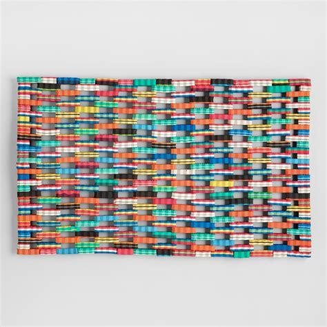 recycled flip flop doormat multicolor flip flop doormat world market