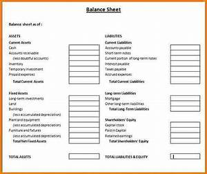 Fine family balance sheet template images resume ideas for Household balance sheet template