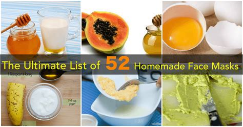 ultimate list  healthy  homemade face mask recipes