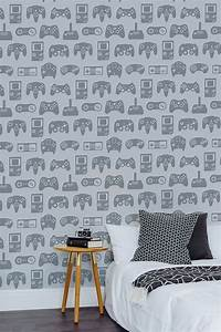 Light, Grey, Retro, Game, Wallpaper, Mural