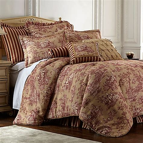 sherry kline country sunset comforter set in burgundy