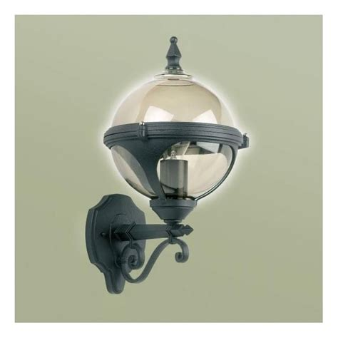 endon lighting single light outdoor globe wall fitting in