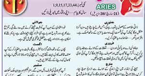 Aries Horoscope In Urdu 2017 Aries ~ Horoscope Urdu 2017