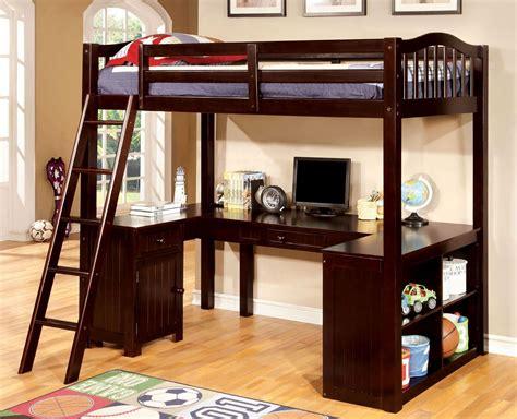 dutton espresso twin loft bed  workstation