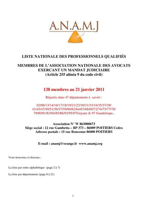 alinea siege social calaméo liste nationale des professionnels qualifies