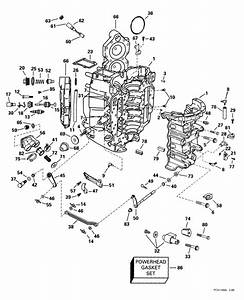 Johnson Cylinder  U0026 Crankcase Parts For 1999 90hp J90pleeb