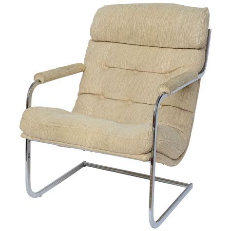 milo baughman style cantilever lounge chair 1960s for sale