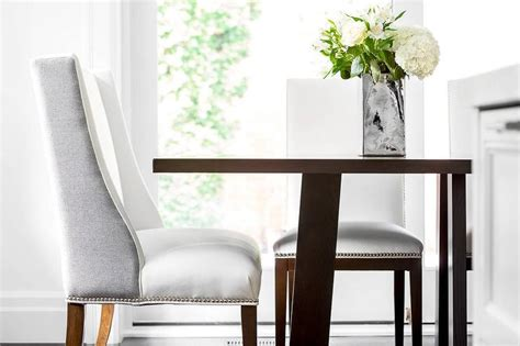 charcoal grey nailhead accented side chairs