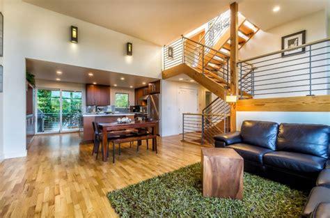 contemporary split level house  views  downtown seattle  mt rainier house decorators collection