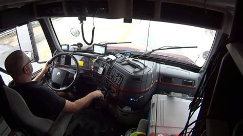 volvo   cab shifting driving semi truck youtube
