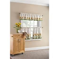 green yellow country sunflower kitchen window curtains tier valance set