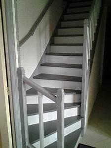 17 meilleures idees a propos de escaliers peints sur With peindre un escalier en gris 2 escalier deco peint en blanc marches et rambarde en bois