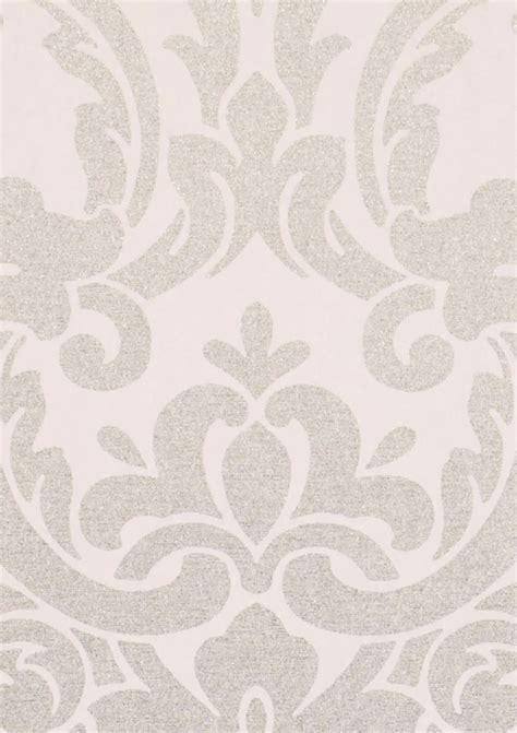 maradila blanc gris argent mat papier peint baroque