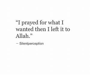 Left it to Alla... Allah Tawakkul Quotes