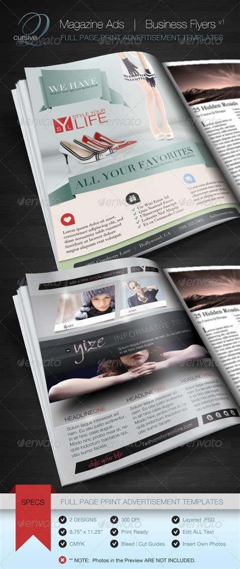 magazine ad template magazine ad business flyer v1 print ad templates