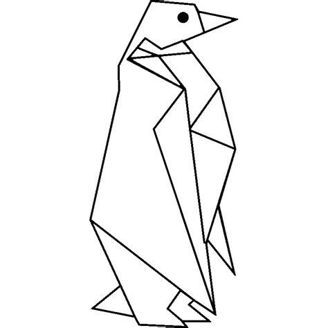carreaux muraux cuisine sticker origami pingouin design stickers et design artistiques ambiance sticker
