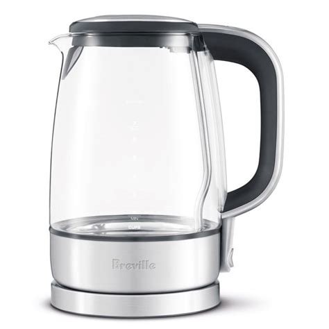 breville crystal clear glass electric kettle  cup cutlery
