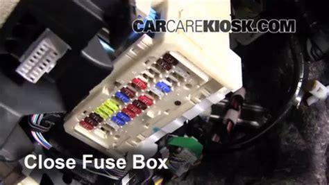 interior fuse box location   toyota yaris