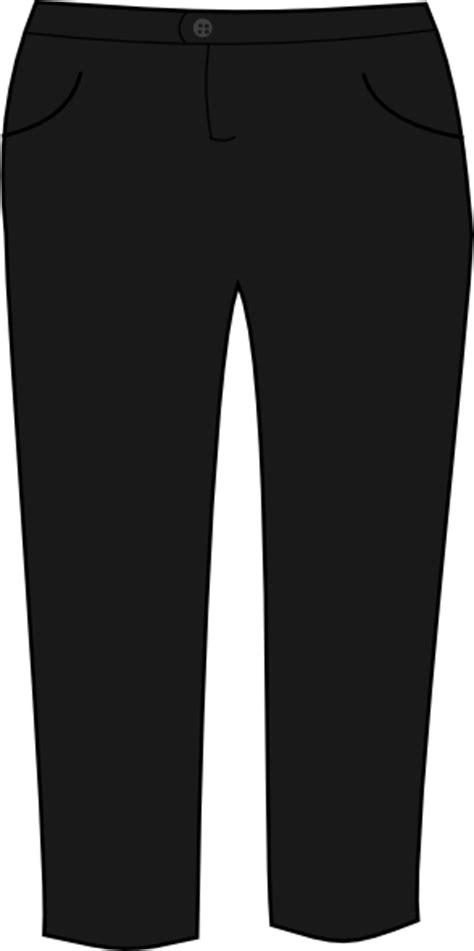 transparent template pants trousers black clip art at clker vector clip art
