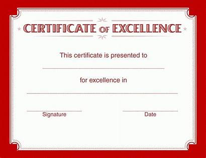 Certificate Excellence Template Templates Certificates Grades Word